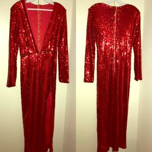 Red sequin dress (As Seen On Beyoncé)